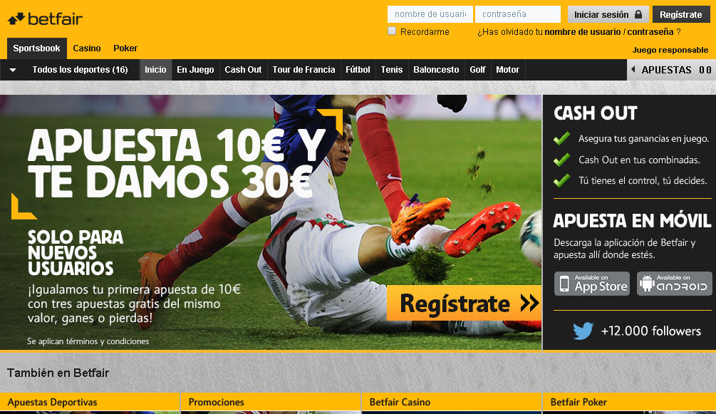 sitio web betfair